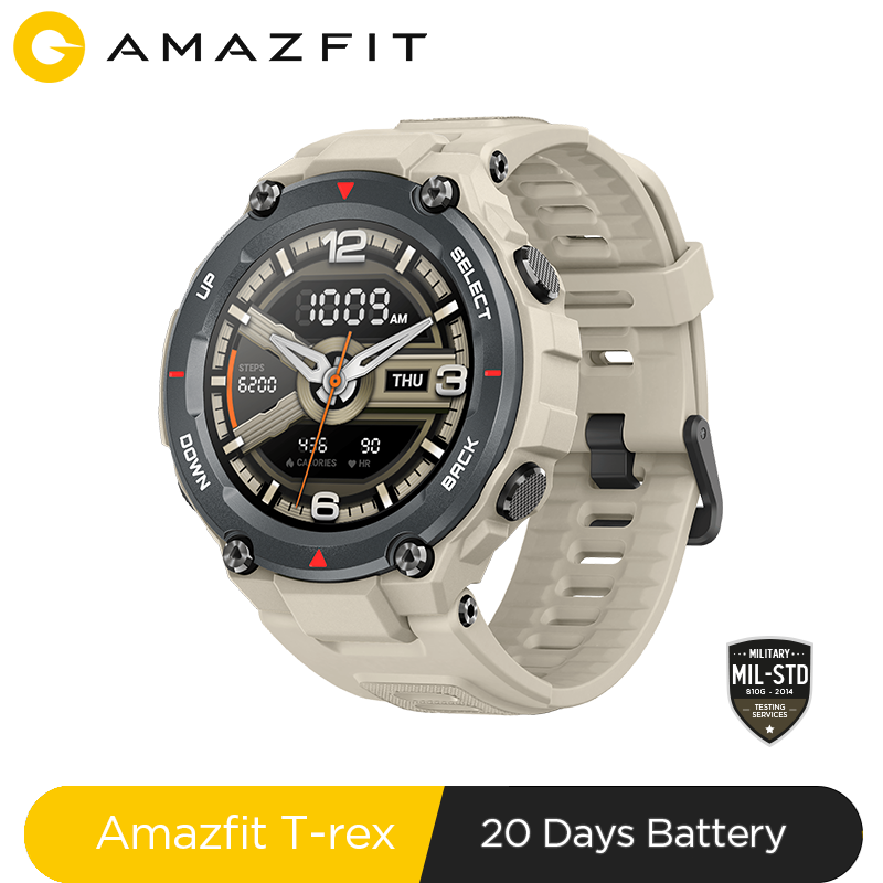 New 2020 CES Amazfit T-rex T rex Smartwatch AMOLED <font><b>Display</b></font> <font><b>Smart</b></font> <font><b>Watch</b></font> GPS/GLONASS 20 Days Battery for Xiaomi iOS Android image