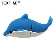 TEXT ME cartoon cute Animal dolphin style usb flash drive usb 2.0 4GB 8GB 16GB 32GB 64GB pendrive gift U disk