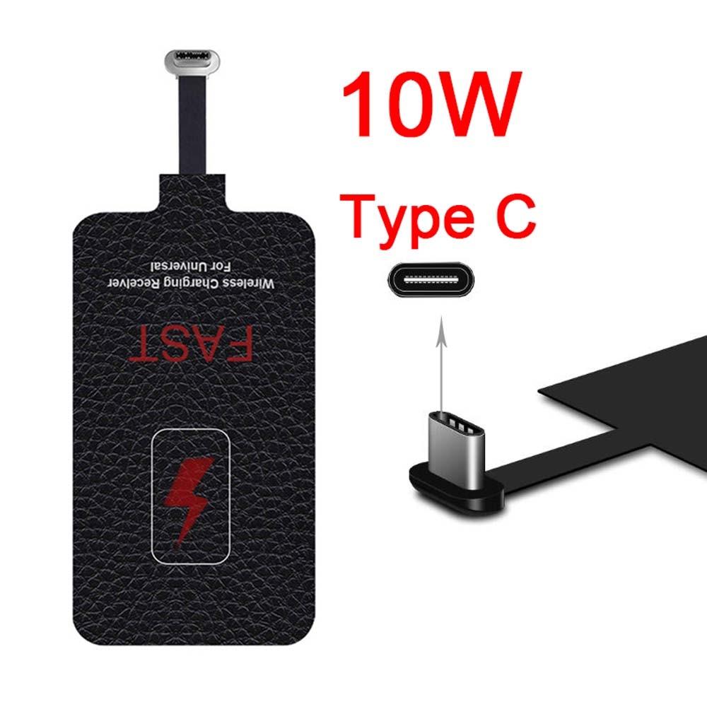 Приемник Qi для быстрой беспроводной зарядки, 5 В/2 А, 10 Вт, универсальная зарядная Накладка для телефона 6, 7 Plus, Type-C