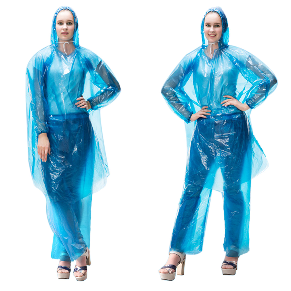 2020 Anti-Dust Daliy Reusable Coverall Protective Clothing Hazmat Suit Pants Split Type Raincover Drifting Hooded Raincoats Sets