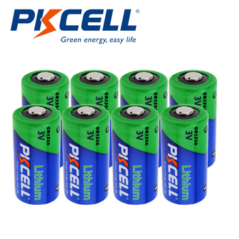 8Pcs Pkcell CR123A 3V Lithium Li- MnO2 Battery Equal CR123 123A CR17345 KL23a VL123A DL123A 5018LC 1500mah For Medical equipment 12pcs pkcell lithium battery cr123a cr 123a cr17345 16340 cr123a 3v non rechargeable batteries for camera gas meter primary dry