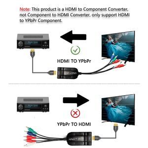 Image 5 - HDMI ölçekleyici YPbPr dönüştürücü HDMI 5RCA RGB YPbPr bileşen Video kablosu desteği 1920x1080 P HDMI bileşen YPbPr