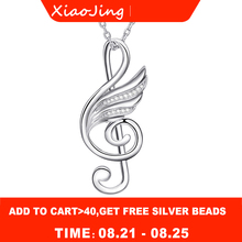 Authentic 925 sterling silver diy craft musical wing pendant chain necklace with cubic zircon fashion jewelry making for women 925 sterling silver jewelry necklace pendant retro evil vajra pestle jiangmo avoid evil spirits musical instruments
