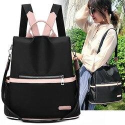 2020 décontracté Oxford sac à dos femmes noir imperméable en Nylon sacs d'école pour adolescentes de haute qualité mode voyage fourre-tout Packbag