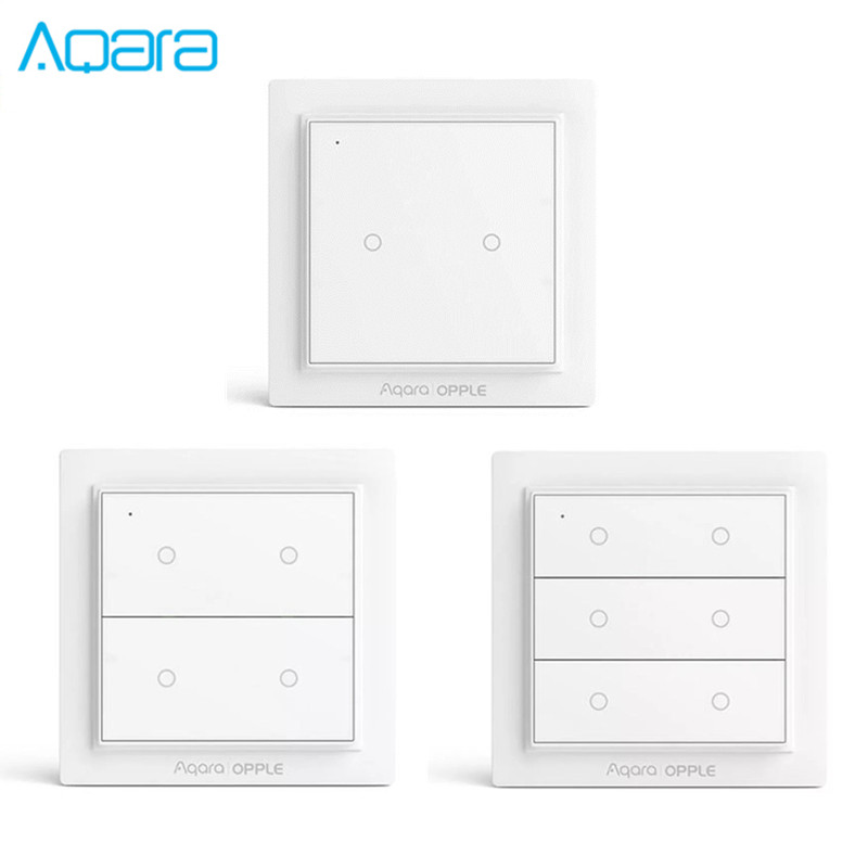 Xiaomi Aqara OPPLE Wall Switch Smart ZigBee No Wiring Required Remote Control Lamp Wireless Wall Switch Work With Apple Home Kit