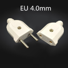 Adapter Eu-Plug Male Connector Socket Detachable Wiring-Power-Extension Electronic 2-Pin