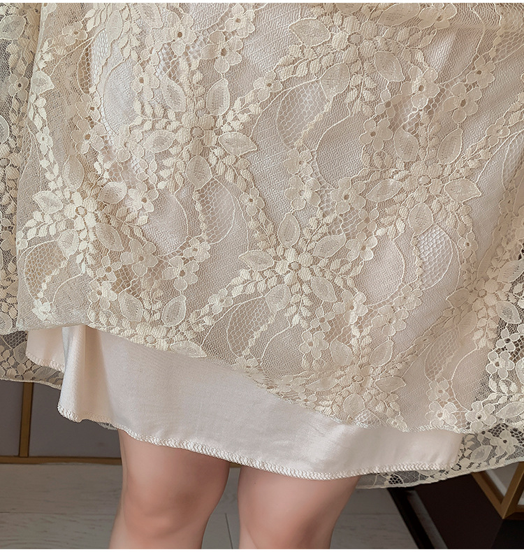 2020 Maternity clothing summer twinset lace maternity one-piece dress white embroidery maternity dress For Pregnant (21)