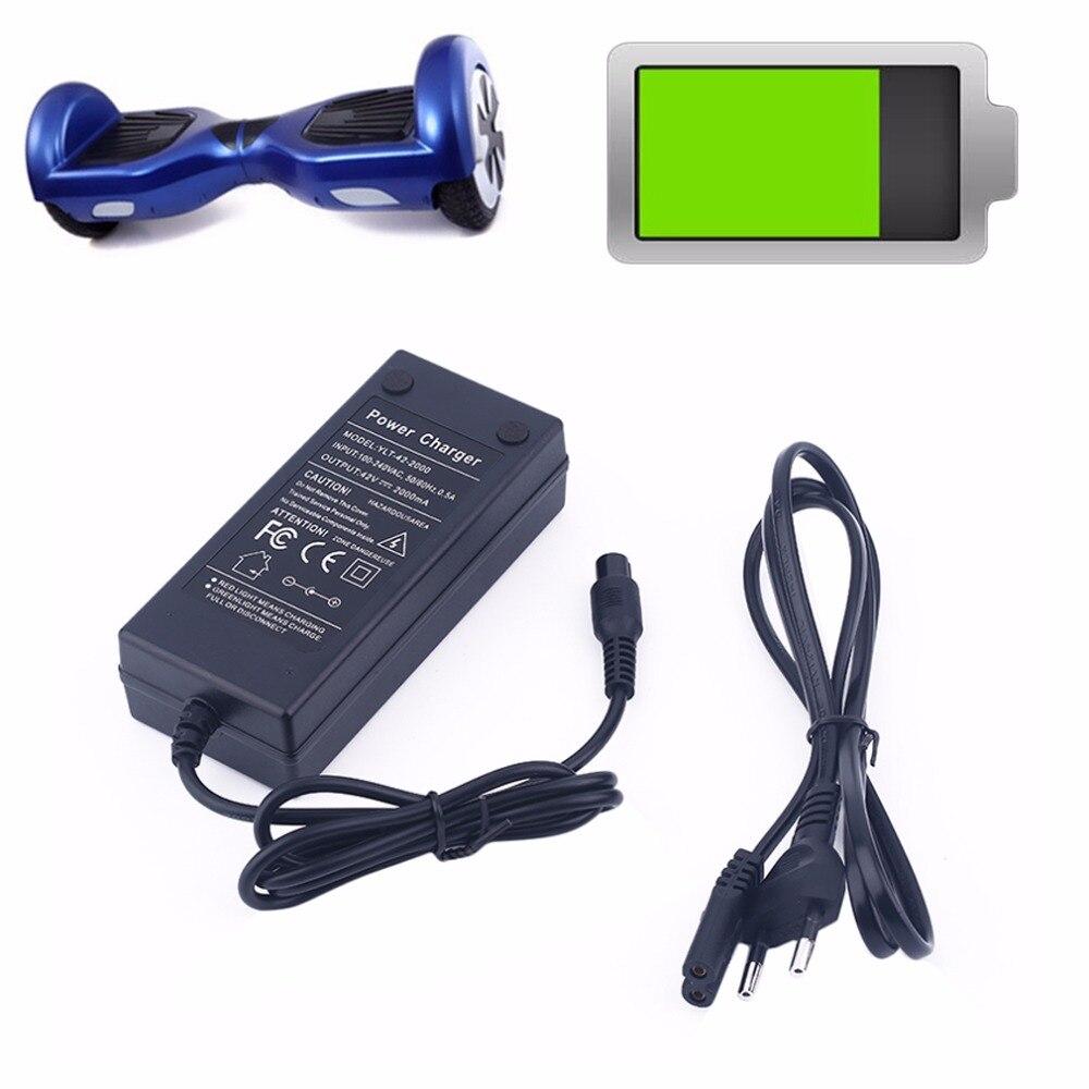 Электрический привод 42 в, 2 А, умное балансирующее зарядное устройство, самобалансирующийся скутер, Ховерборд, зарядное устройство для акку...