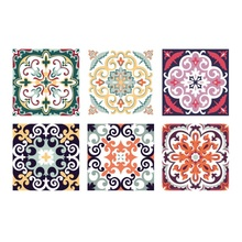 6Pcs/Set Decorative Wall Stickers Self-adhesive Tile Stickers Waterproof Backsplash Kitchen Bathroom Floor Furniture Decor funlife self adhesive floor tiles sticker waterproof bathroom kitchen decor anti skid modern floor stickers for entrance tile