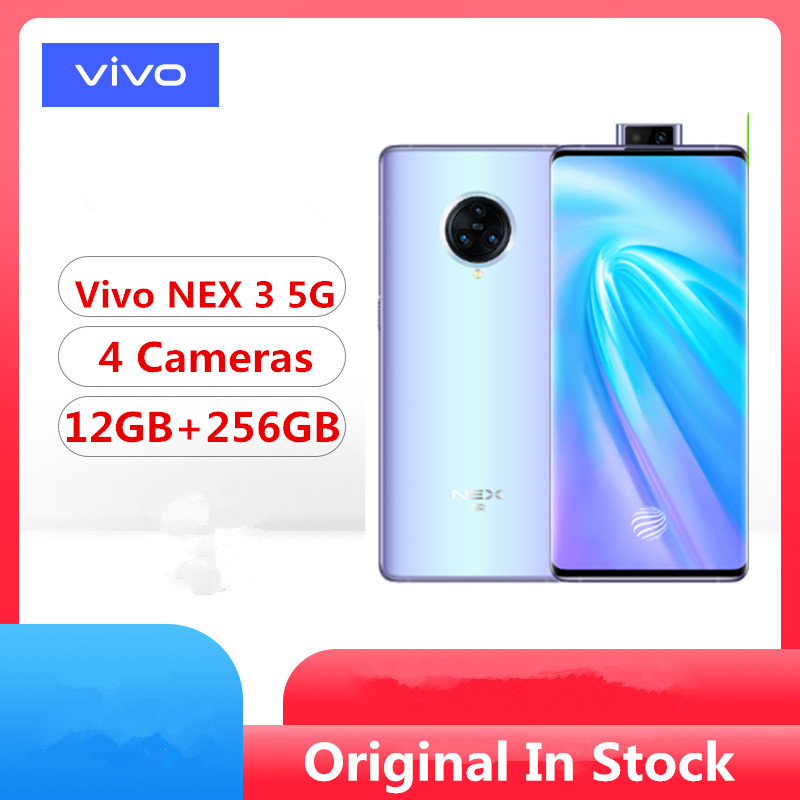 DHL Fast Delivery Vivo Nex 3 5G Cell Phone Snapdragon 855 Plus Android 9.0 6.89