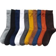 2021 nouveaux hommes Couleur Chaussettes En Coton Grande Taille 39-46 automne Longues Chaussettes Pour Hommes Robe Mâle Cadeaux D'affaires Décontracté Déodorant Sox Chaud