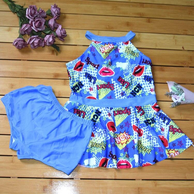 New Style Girls Cute Printed Bathing Suit Split Type Princess Dress-Cute South Korea Kids Children Swimwear Factory