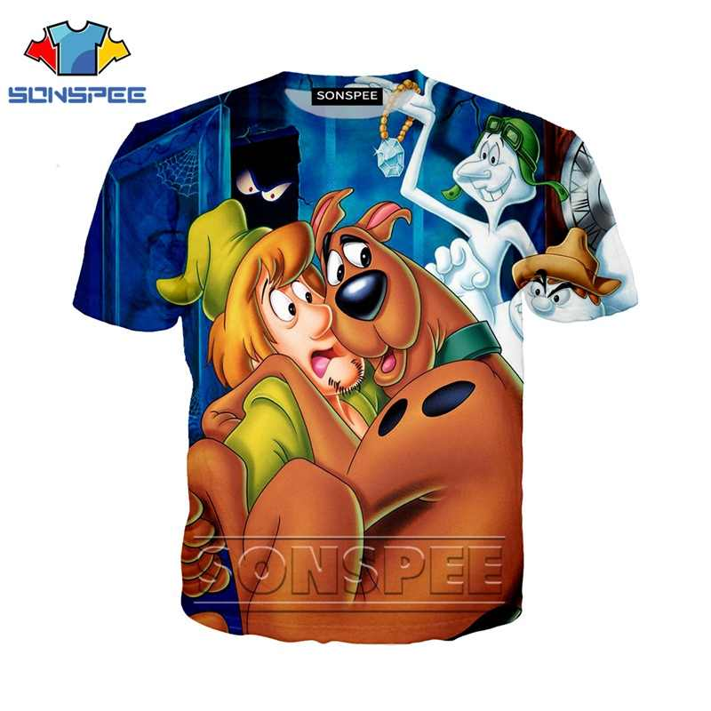 Anime 3d print t shirt Men Women homme Scooby fashion t-shirt kids doo Harajuku sexy dog top tees Funny shirts homme tshirt A09