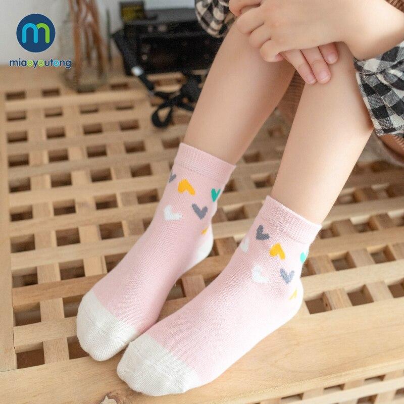 10 Pcs/lot Unicor Star Strip Cotton Knit Warm Children's Socks For Girls New Year Socks Kids Women's Short Socks Miaoyoutong 3
