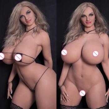 165cm Full Size Fat Ass Sex Doll Realistic Vaginal Oeal Love Doll With Big Breast Silicone Sex Doll For Men Sexy Toys Real Pussy