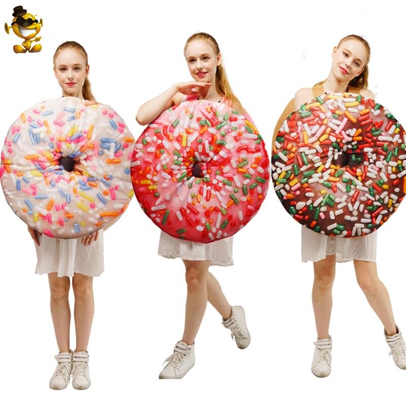 Chocolate Donut Adult Costume Cosplay Halloweenn&Carnival Women's Doughnut Funny Food Suit Fancy Dress Hallloween Donut Costume
