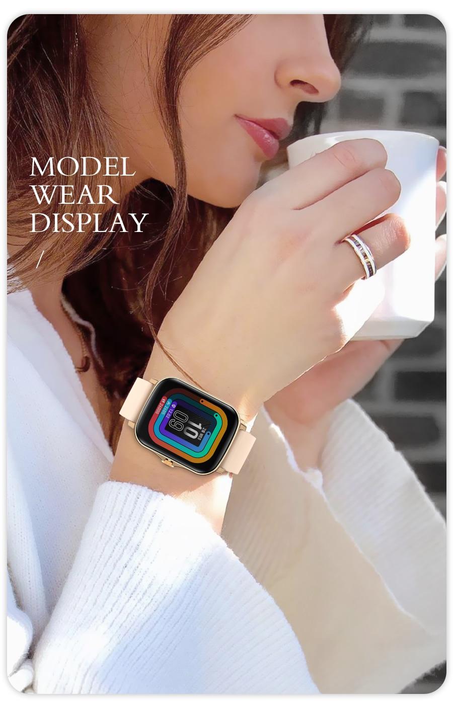 H8e8f24f0f23344aeaeb5df331e180e70Z Full Touch Y20 Sport Smart Watch Men Women IP68 custom dial Heart Rate Fitness Tracker Smartwatch wristwatch GTS 2 P8 plus
