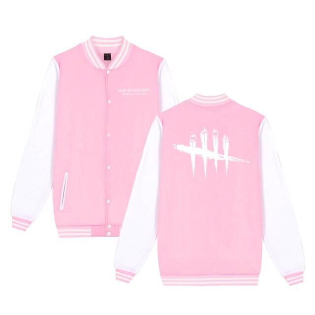 Unisex Fashion Baseball Jacket Dead By Daylight Baseball Uniform  Harajuku Sportswear Boys Girls Lovely Cotton Jackets Clothes 5