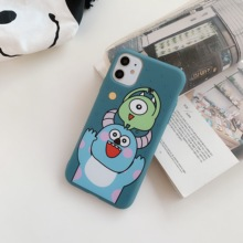 mike monsters Cute Cartoon Monsters University Sulley Mike Case For iPhone 11 Pro Xs Max Xr X 8 7 6 Plus 3D Lovely Soft Silicon Back Cover