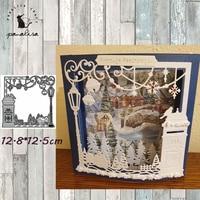 Panalisacraft-troqueles de corte de Metal para Navidad, plantillas para álbum de recortes/álbum de fotos decorativo en relieve, tarjetas DIY
