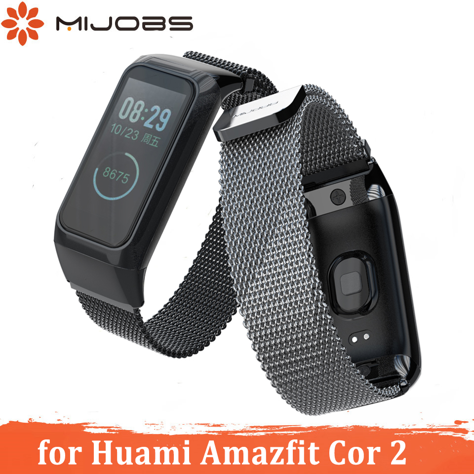 Milanese Strap For Amazfit Cor 2 Pulseira Smart Band Leather Wrist Strap Bracelet For Xiaomi Huami Amazfit Cor 2 Wriststrap