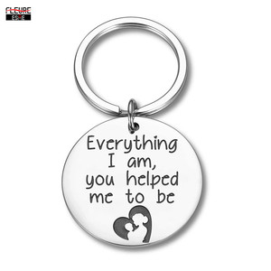 Mother Father Day Keychain Gift for Mom Dad From Daughter Son Keyring Appreciation Gifts for Her Him Women Men Key Chain Keyring