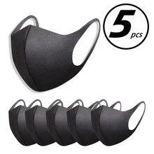 5pcs Washable elastic Earloop font b Face b font Breathing font b Mask b font Reusable