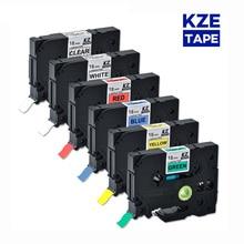 Ribbon Label Laminated Tze-Tape Printers Multicolor Tze241 18mm for P-Touch as Tze-241/Tze241/Tze/..