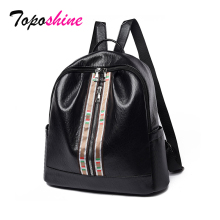 цена на PU Leather Women Soft Backpacks Small Female School Bag Backpack Black for Girls Travel Fashion Bag Bolsas Drop Shipping Bags