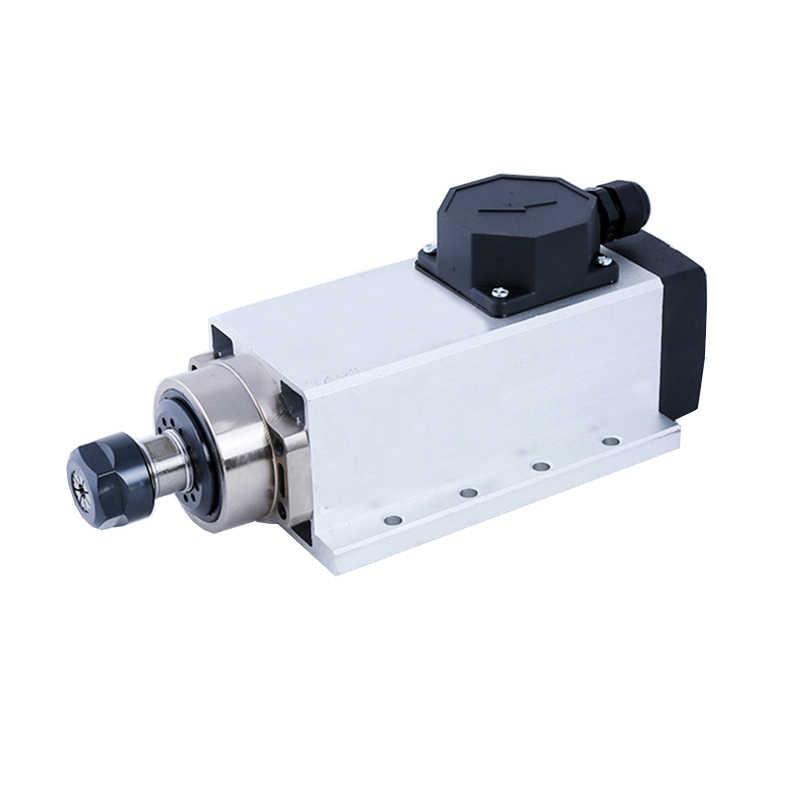 المغزل المربع باستخدام الحاسب الآلي 1.5KW المغزل المحرك 1500 واط تبريد الهواء المحرك باستخدام الحاسب الآلي المغزل المحرك آلة أداة المغزل مع المكونات/إصدار صندوق الكابل