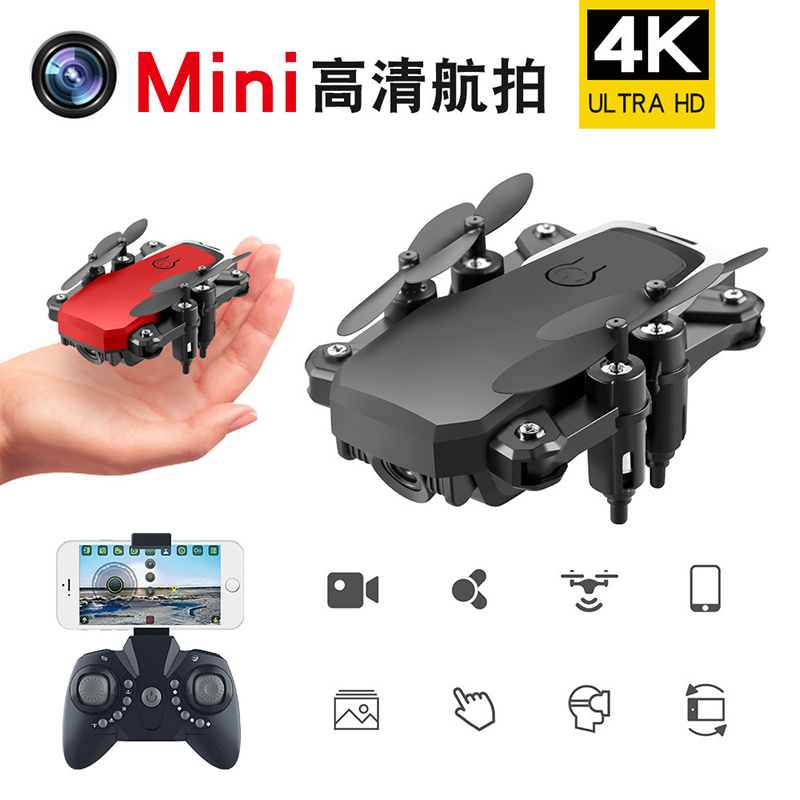 Rc Drone Quadcopter 4K Rtf Toys Gift Red Foldable Instructions Switch Mini Rc Drone With Camera Kids Long Flying Wifi Wide Angle
