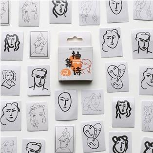 Different Face Diy Decorative Sticker(1pack=45pieces)