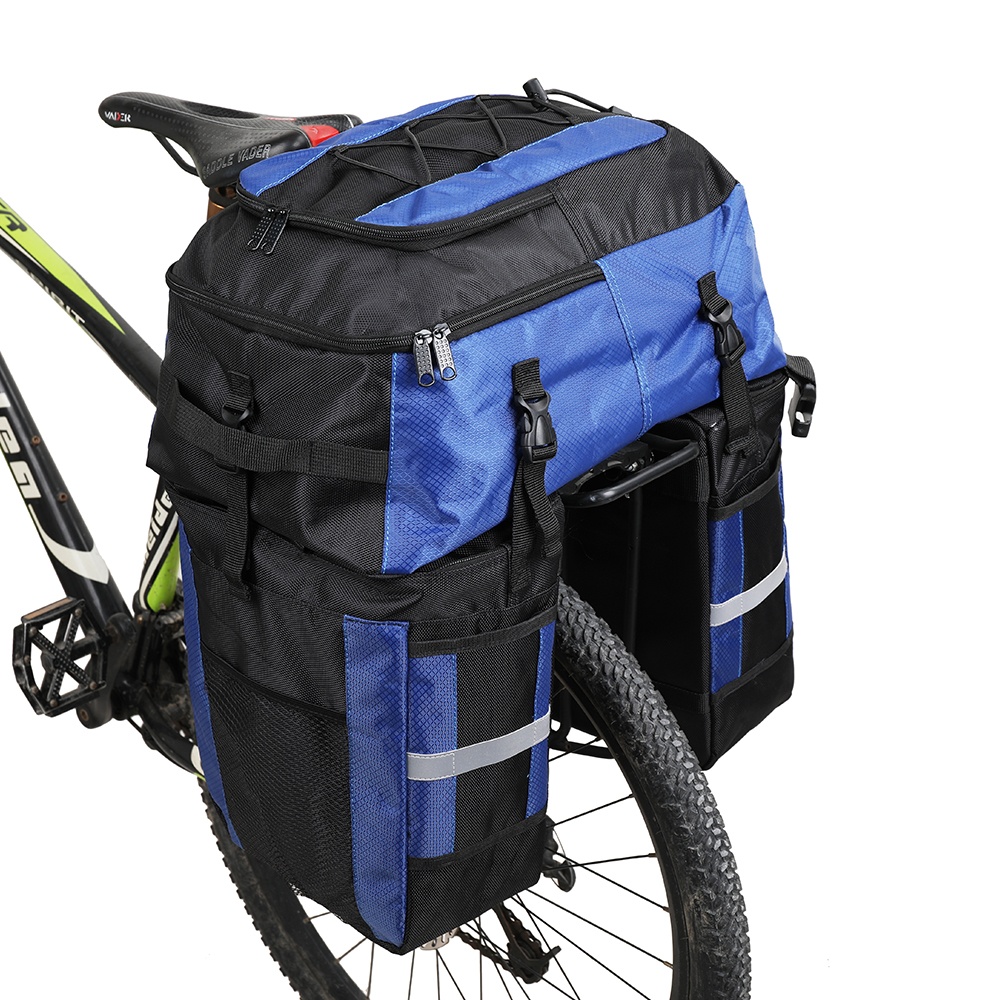 Rhinowalk 70L Bicycle Bag 3 in 1 Bike Big Capacity Rear Rack Tail Seat Trunk Bag Pannier Pack Cycling Bag Basket Bike Accessory