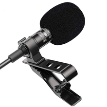 Omnidirectional Metal Microphone 3.5mm Jack Lavalier Tie Clip Microphone Mini Audio Mic for Mobile Phone PC Computer Laptop
