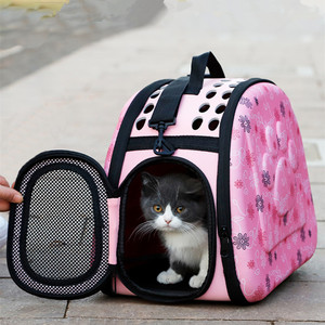 Image 1 - EVA Pet Carrier Dogs Cat Folding Cage Collapsible Crate Handbag Carrying Bags Pets Supplies Transport Chien Puppy Accessories