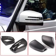 for mercedes benz gl gls x166 ml gle w166 4pieces car styling door sill scuff plate welcome pedal trim cover sticker accessories Real Carbon Fiber Car Rearview Mirror Caps Trim For Mercedes Benz GLE GLS GL ML G R Class W166 W463 W251 X166 Replacement Parts