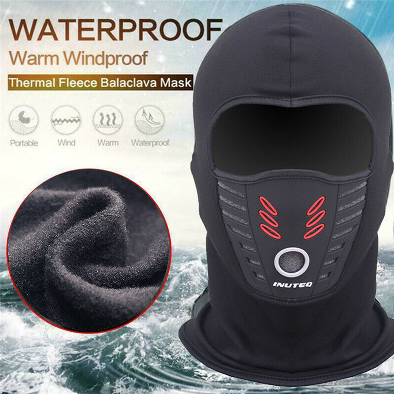 Winter Breathable Warm Outdoor Full Face Mask Waterproof Windproof Motorcycle Bike Thermal Fleece Balaclava Face Mask Helmet 3FS