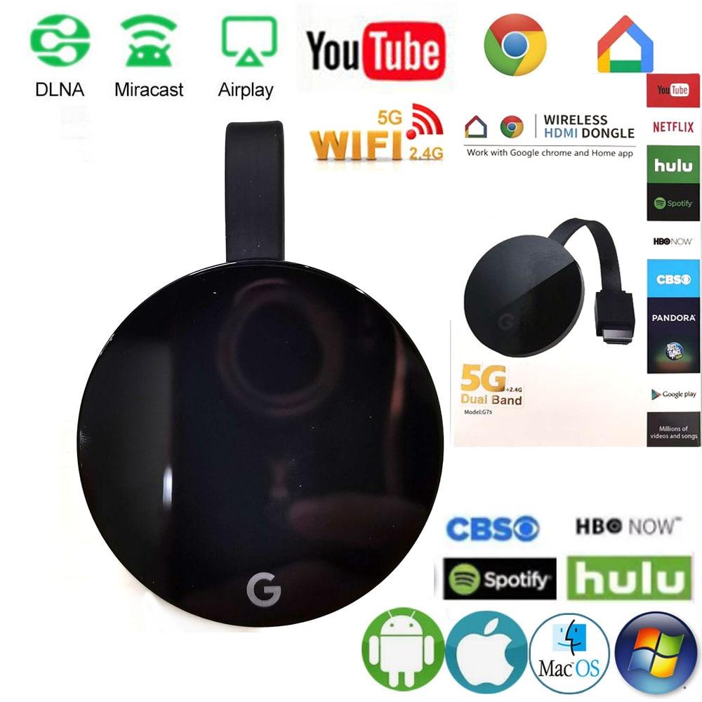 5G Wi-Fi 1080P Дисплей приемник для Google Chromecast mirascreen ТВ приемник HDMI совместимых с Miracast ТВ селфи палка для Ios и Android
