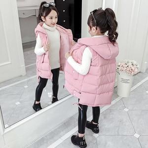 Image 2 - Fashion 2020 Kids Girls Vest Children Autumn Winter Baby Outwear Fashion Kids Down Jackets Wadded Spring Waistcoat for Teenage