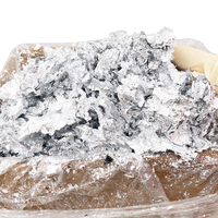 1KG Imitation Silver Flake Glitter Aluminum Leaf Fragment Gilding for Wall Furniture Painting Glass Nail Crafts Home Decoration