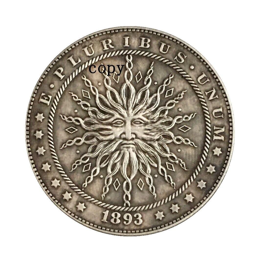 Hobo Nickel 1893-S, копия монеты доллара США Моргана, тип 228