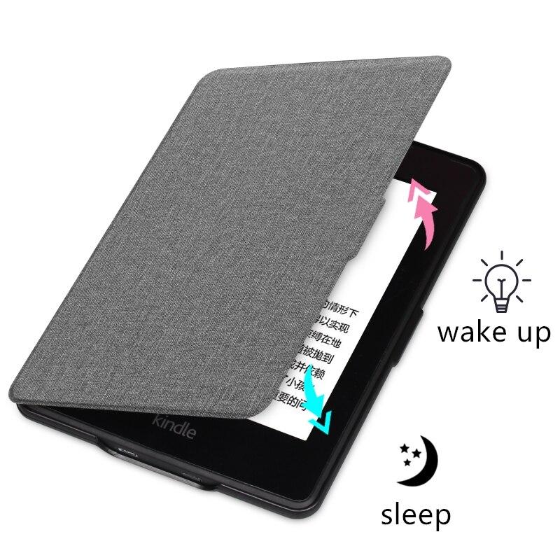 Чехол для Kindle 2019 из искусственной кожи с текстурой ткани, умный чехол для ПК, Жесткий Чехол для всех, новинка Kindle 10th J9G29R, 2019-3