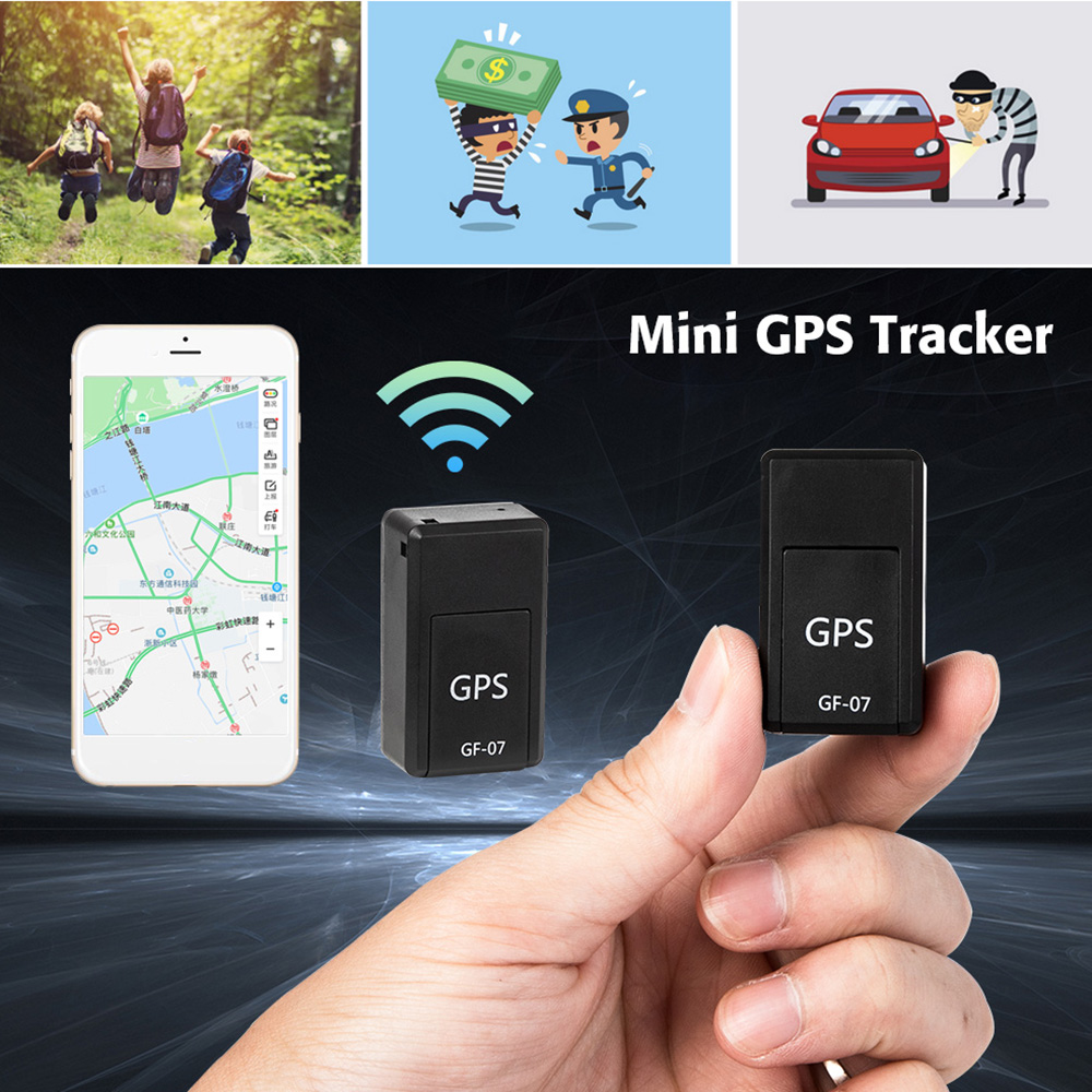 Mini GPS Trackers GF-07 GPS Permanent Magnetic SOS Tracking Devices For Vehicle Car Child Location Trackers Locator Systems