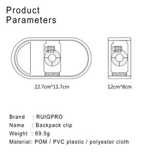 Image 5 - 360 derece rotasyon Quick Release sırt çantası kemer düğmesi dağı toka klip adaptörü Gopro Hero 9/8/7/6/5/4 Xiaoyi eylem kamera