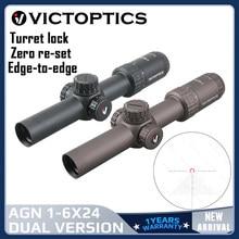 Victopics-mira telescópica AGN 1-6x24SFP, visor con 5 niveles de iluminación, torreta de bloqueo, sistema cero para Airsoft Rimfire .177 .223 5,56