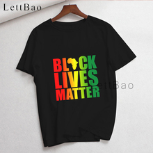 Black Lives Matter Print Short-Sleeved T-Shirt Men