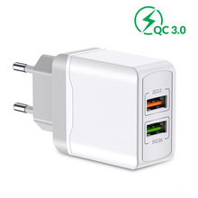 18W Dual USB Charger for iPhone X 8  7 6 plus 5V2.1A QC 3.0