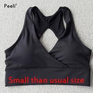 Image 5 - Peeli High Support Sports Bra Top Women Gym Brassiere Sport Bh Fitness Seamless Push Up Yoga Bra Padded Sports Top Active Wear