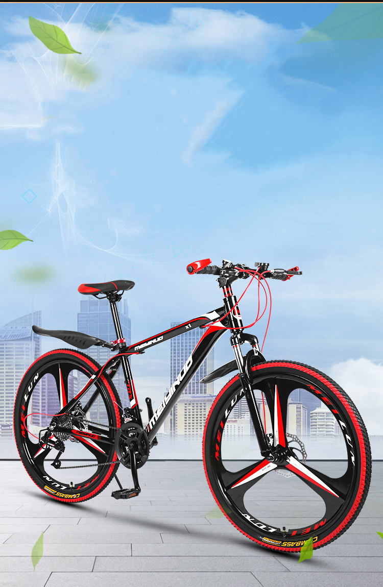 Mountain bicycle Carbon Steel Frame 26 inch Wheel 21/24/27 speed cross country bike bikes student bmx Road Racing Speed Bike