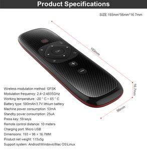 Image 5 - W2 เสียงรีโมทคอนโทรลคีย์บอร์ดไร้สาย 2.4Gเมาส์เมาส์IRการเรียนรู้ไมโครโฟนGyroscopeสำหรับAndroid TVกล่องH96 MAX x3 X88 Pro
